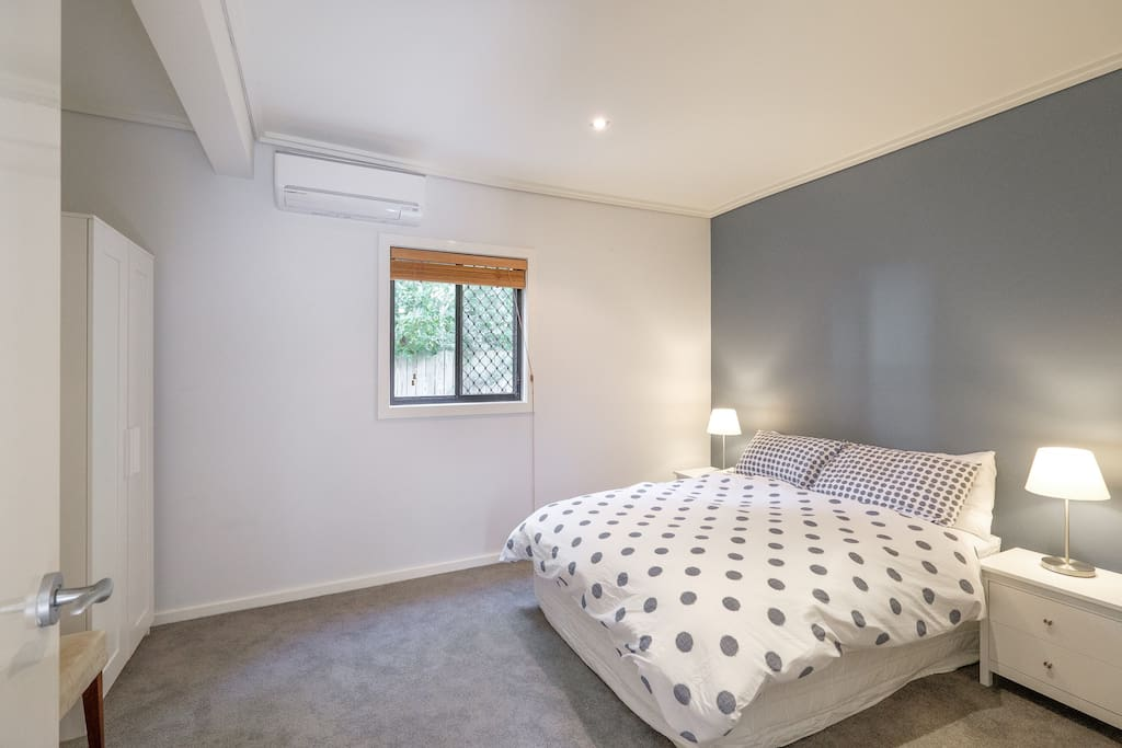 Reverse-cycle air-con in the bedroom
