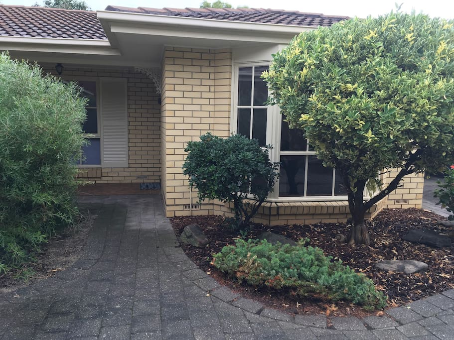 No steps.. easy access with luggage. Secure, safe, quiet in a small group of 5 apartments.