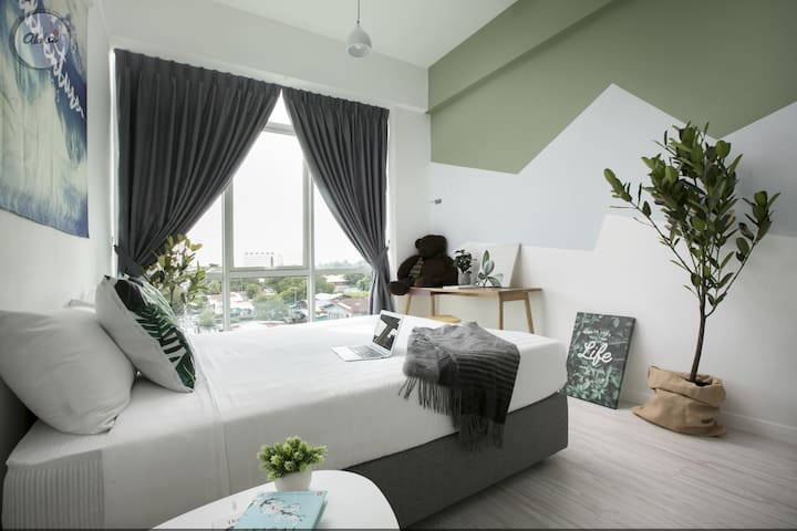 ★Nature Inspired Downtown Family Pad for 5Pax★