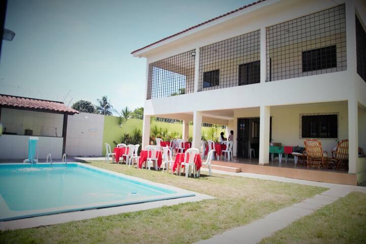 Casa Temp Mra Farinha piscina 5 suítes 300 m praia