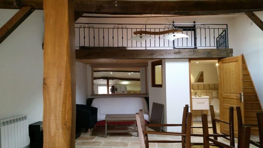 Loft 50m² de charme dans village provençal - La Roquebrussanne