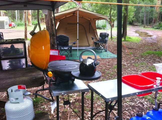 Glamping - a National Park camp holiday adventure