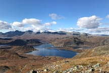 Spectacular hiking trails in the immidiate surondings of the cabin