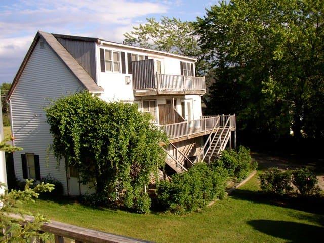 Queen Suite on Bass Harbor. 2nd Floor. Deck.