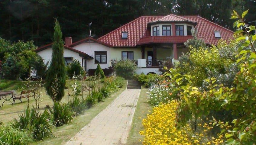 Dom nad jeziorem w lesie sosnowym, cisza i spokój - Głęboczek - Apartamento