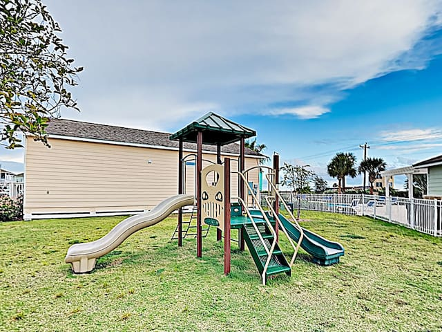 The kids will love the community playground.