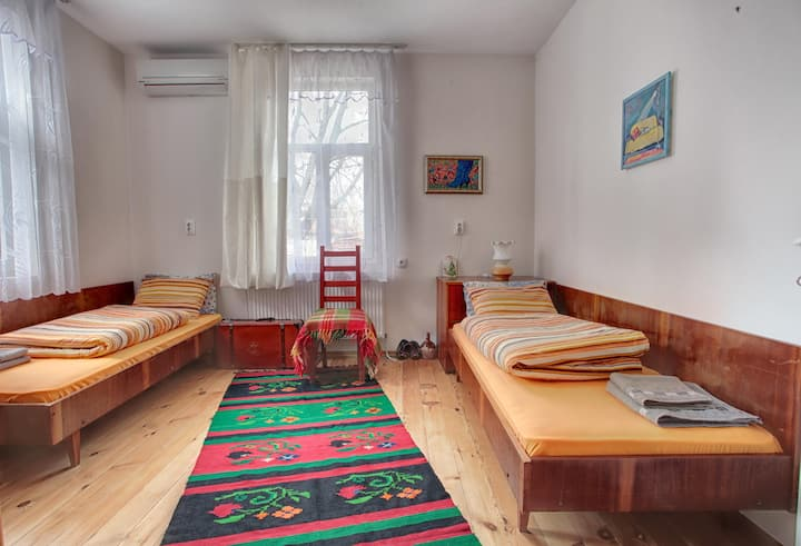Traditional Room with Old Town View