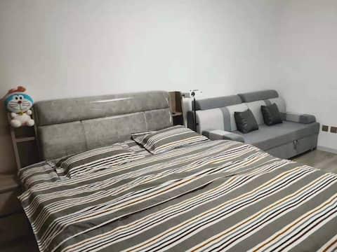 北地舒适空调大床房日租房民宿公寓 影视大床房 网红民宿