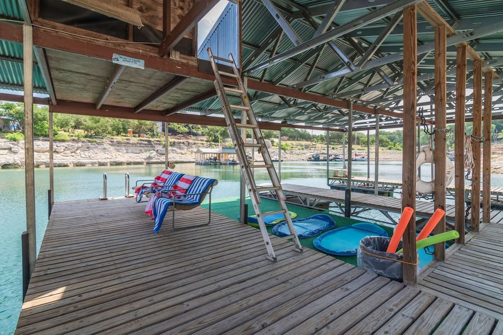 Swimming, Fishing, Boating - this place has it all (even a ladder on side and a diving board on the other!)