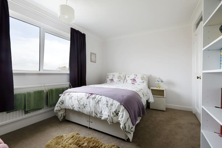 Comfy bed in private bedroom