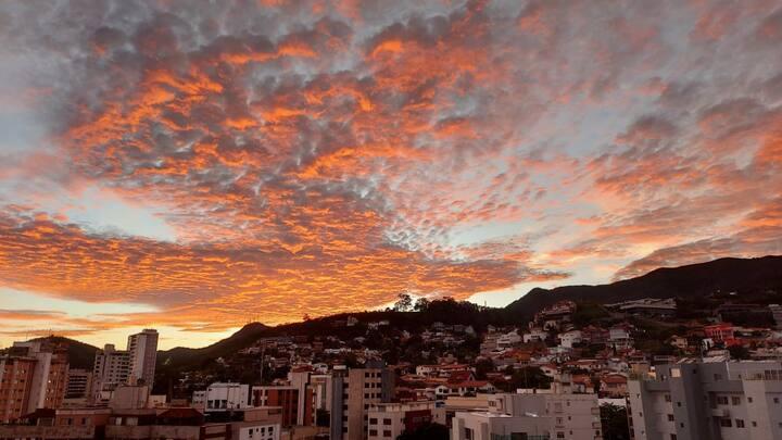 Apartamento com vista para a Serra do Curral