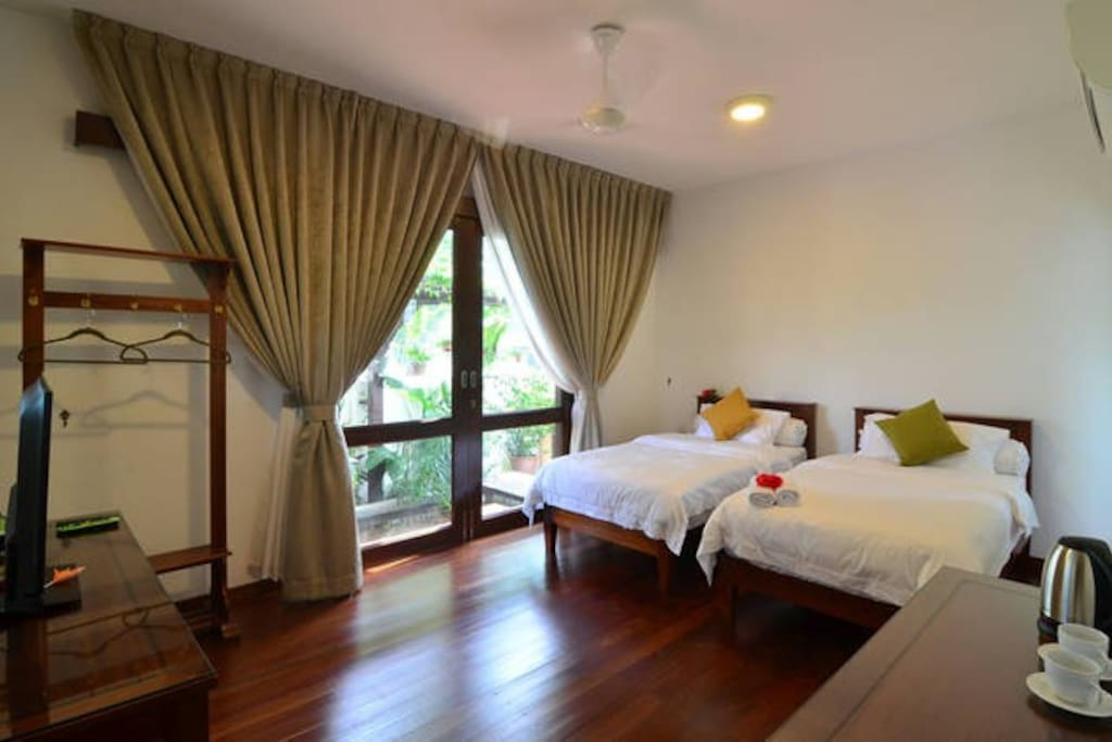 This is our twin room - Which you get depends on availability