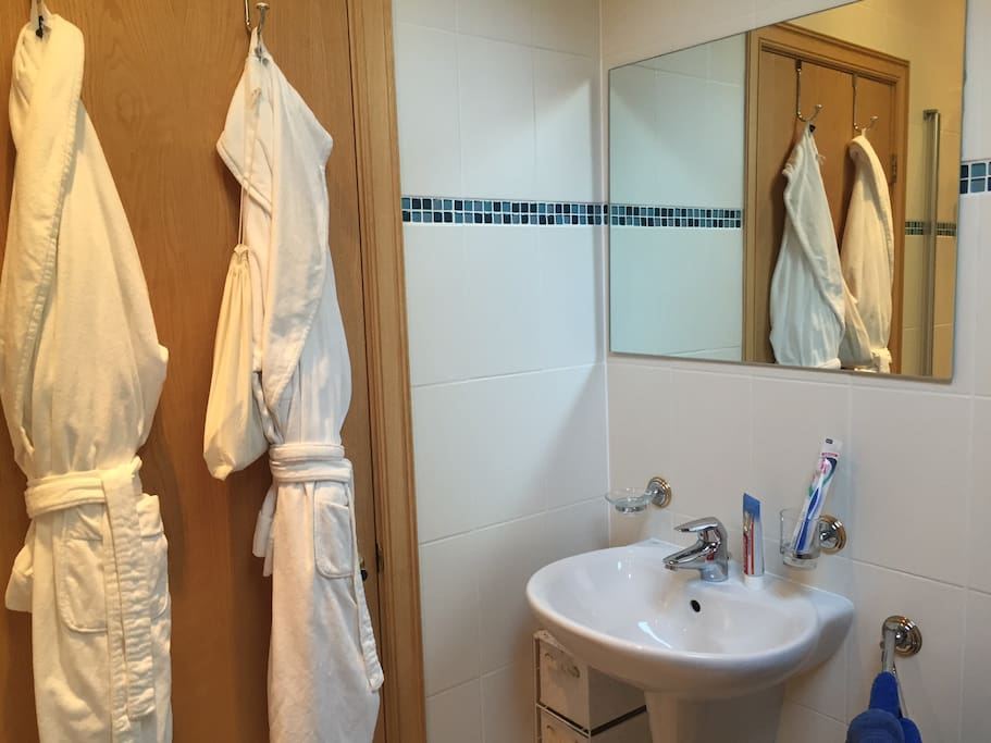 Your private/shared bathroom next to your room with shower and WC.