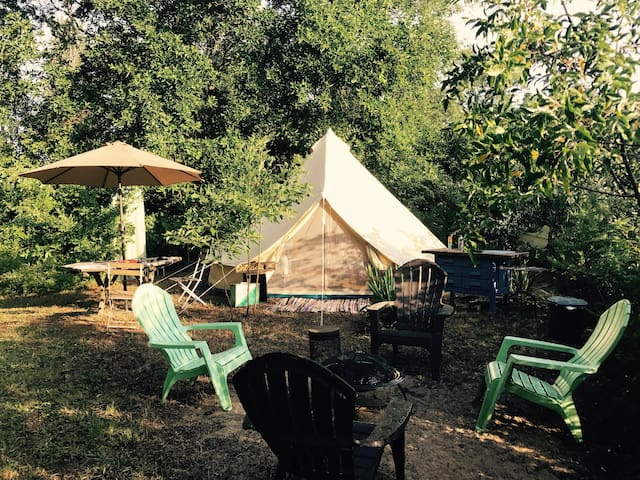 The Outpost • Two Bucks and a Bird • 16' Bell Tent