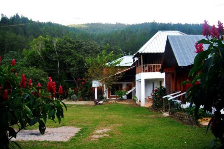 Angostura Eco-Lodge,montaña y rió, hab. 1 cama