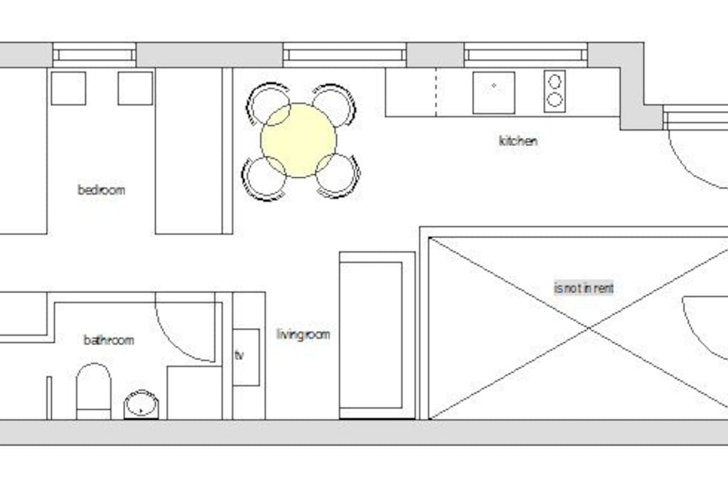 Blueprint of the apartment
