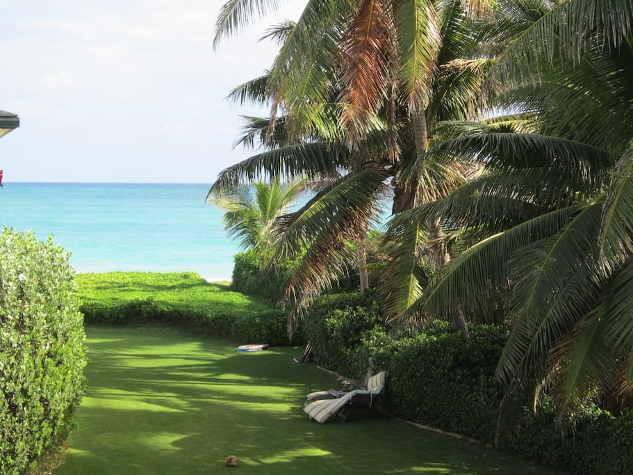 View of Kailua Beach and Bay from the deck
