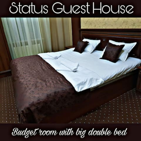 Budget room with big bed