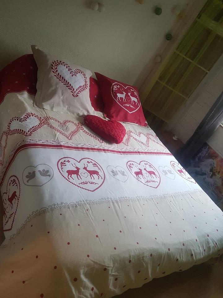 maison style savoyard chambre edelweiss