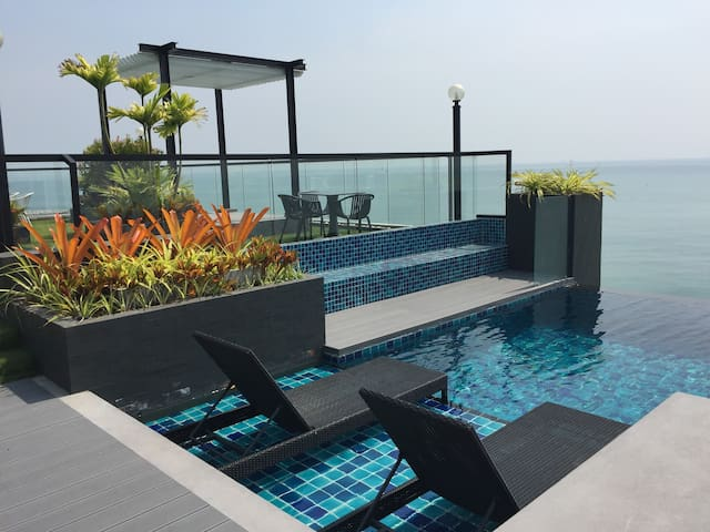 Luxury Living@River-Beach condo - Noen Phra - Apartemen