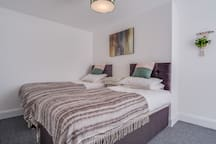 Bedroom two, can be either a twin or a king-size double. All mattresses are brand new and luxury orthopaedic