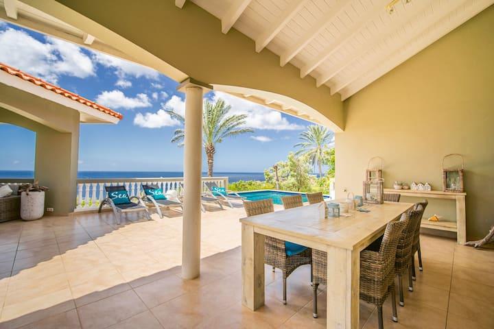 Spacious villa with private pool/unique ocean view