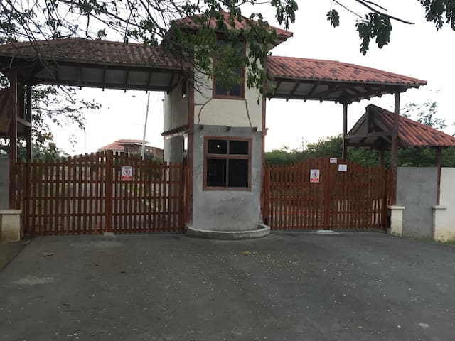 Entrance from main road