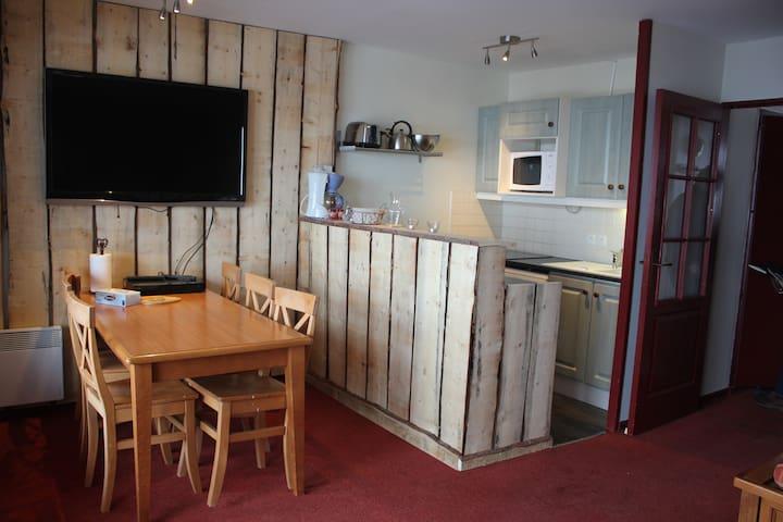 appartement 3 pièces 6/7couchages - isola 2000 - Apartament