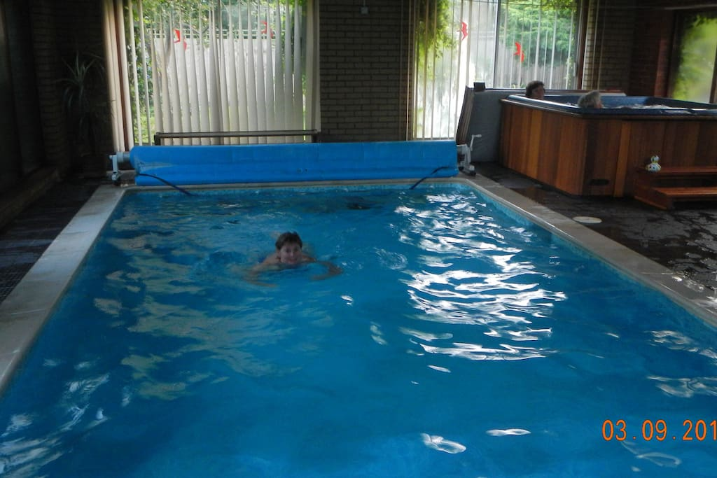 our pleasant heated indoor pool with jacuzzi