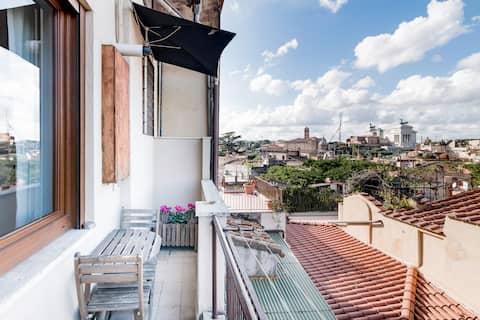 Apartamento estudio con vistas cerca del Coliseo
