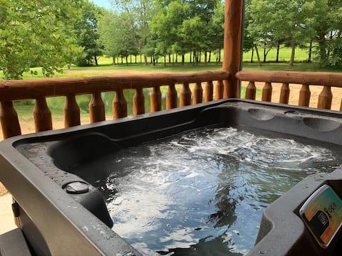 Suite romantique avec spa et vue sur l'eau