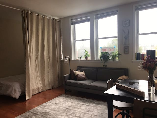 Large and cozy top floor studio