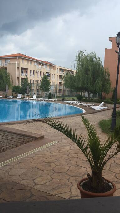 View from the main pool