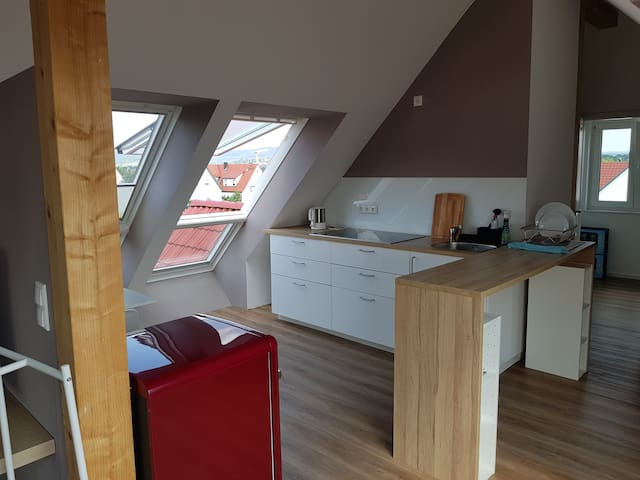 neues Appartement mit schöner Aussicht