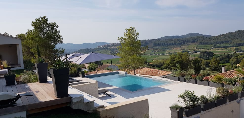 Villa Cadière Vue Mer  Vignes Piscine chauffée