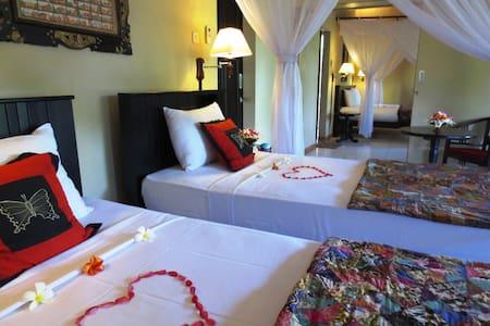 Family Deluxe Room Garden View - Gerokgak - 家庭式旅館