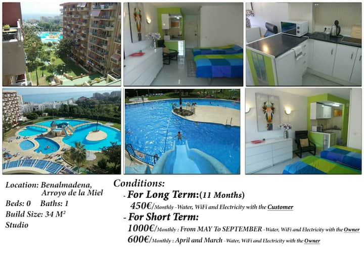 Lovely apartment free wifi  sea view near airport