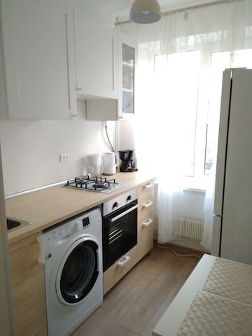 cozy 2 rooms apartment 1 min  m. Akademicheskaya