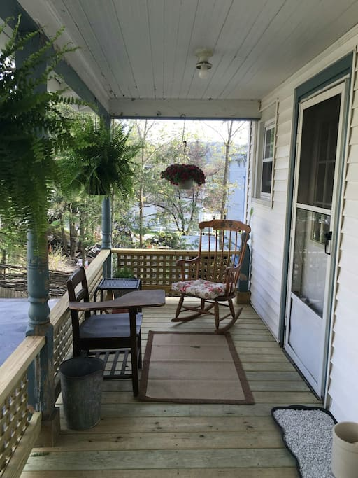 Brand new, relaxing back porch.