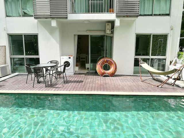 2B2B pool access by MRT/nightmarket - Dindaeng - Apartment