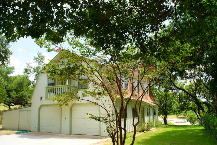 Two Dam Guest Cottages are in beautiful Blanco Texas and a short walk to the Historic Town Square.