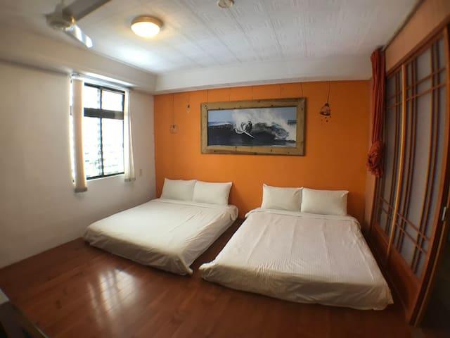 【東河民宿】衝浪勝地  旅人和室4人房 Surf Japanese Room 背包客棧 台東住宿