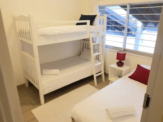 3rd bedroom with bunk and single bed