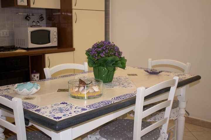 Holiday Apartment 'Casa Vacanze Pula' with Balcony & Terrace; Parking Available