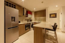 Kitchen with upgraded polished floor