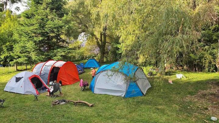 The only campsite allows a bonfire & power source