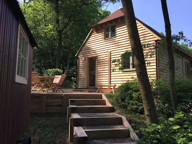 Barn House & Shepherd's Hut - a woodland retreat - Wisborough Green