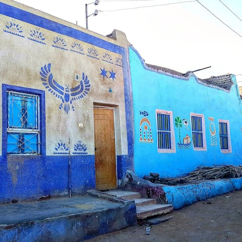 Houses in our neighbourhood with beautiful colours in Nubian style