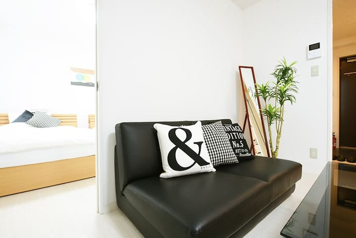 Living room - One semi double sized sofa bed