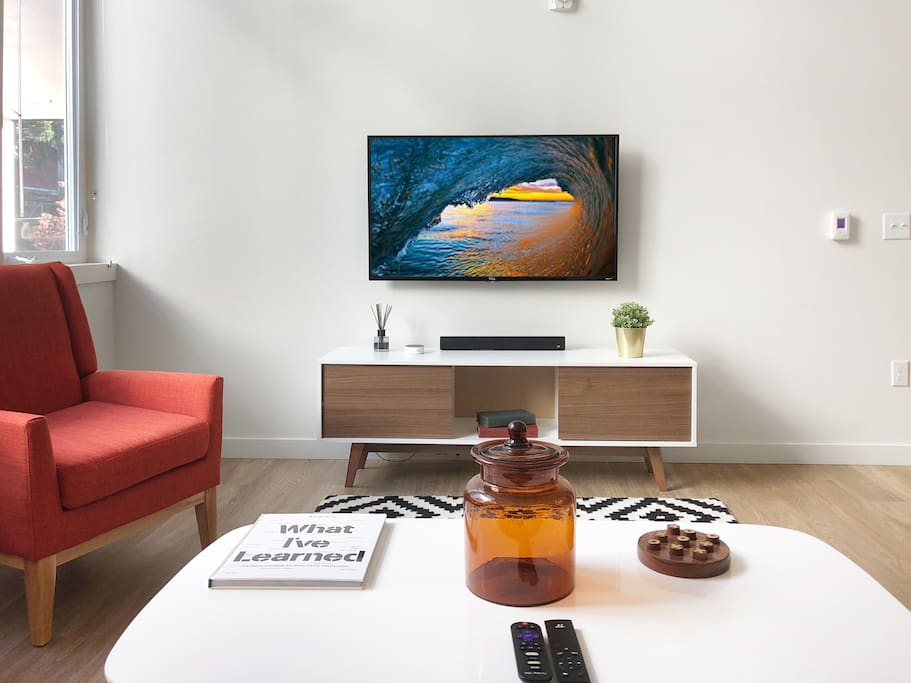 If a night in is what you want, use our TV with Roku to catch up on your favorite shows or SlingTV to access some live TV channels.